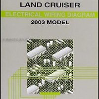 2003 Toyota Land Cruiser Wiring Diagram Manual Original