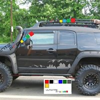 2x Mountains Decal sticker kit compatible with Toyota Land Cruiser