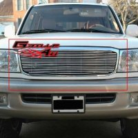 APS T85470A Polished Aluminum Billet Grille Replacement for select Toyota Land Cruiser Models