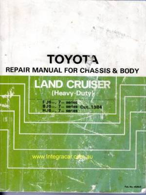 Toyota Landcruiser FJ62 FJ70 FJ73 FJ75 BJ HJ60 HJ75 ChassisBody genuine repair manual USED