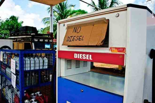 Blockades in Guyana means they are out of diesel