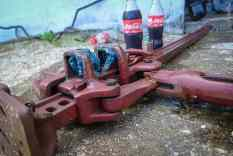 I now know from first-hand experience: coca cola works perfectly for de-rusting.