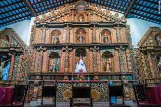 Franciscaner kerkje met schitterend altaar