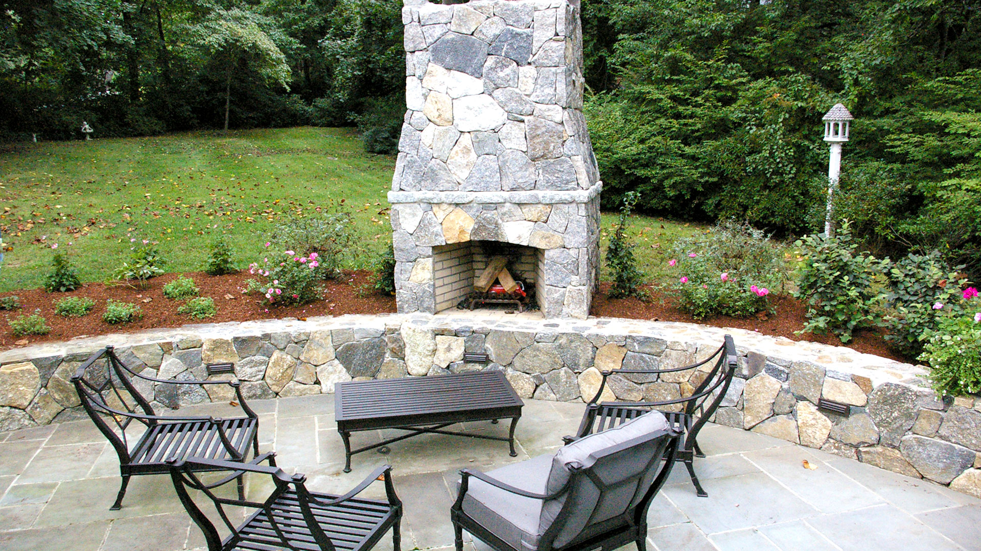 trumbull-ct-backyard-planting-outdoor-fireplace