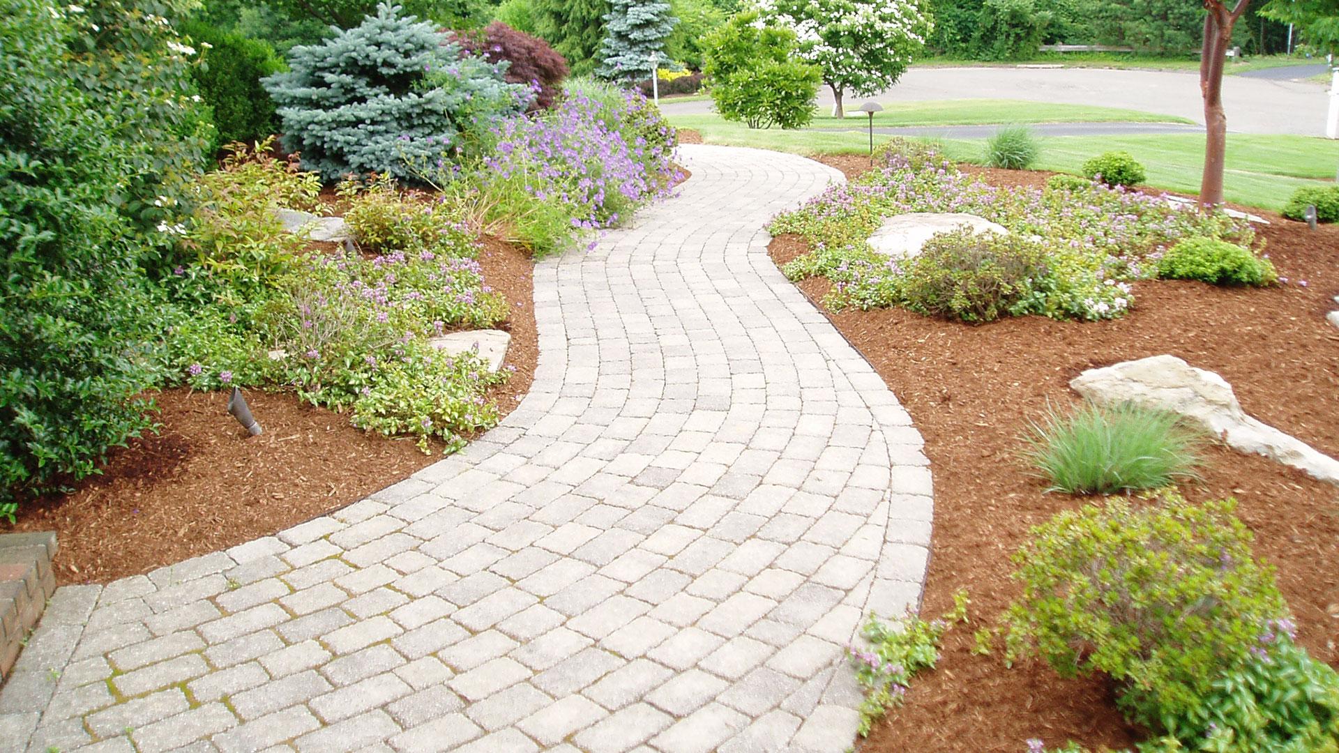 Curved Paver Sidewalk