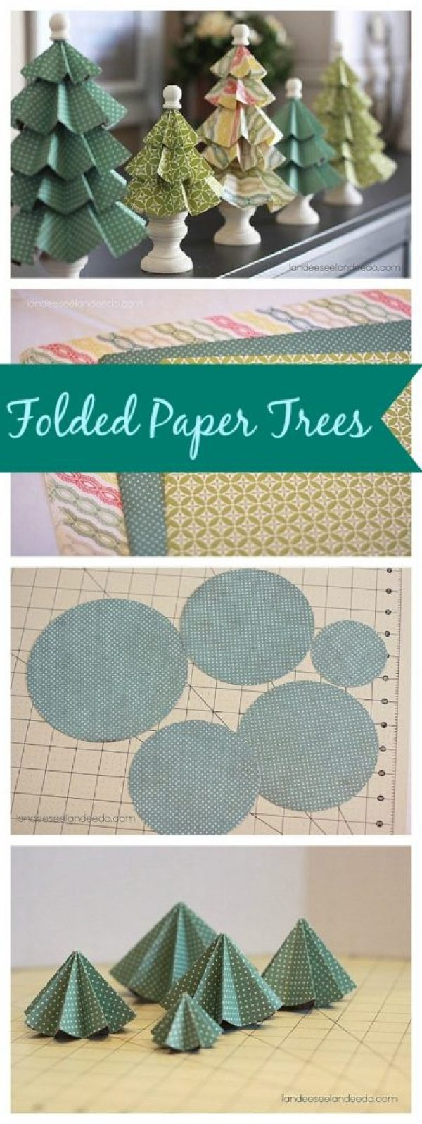 DIY Folded Paper Trees - Super CUTE and EASY Christmas Decorations!