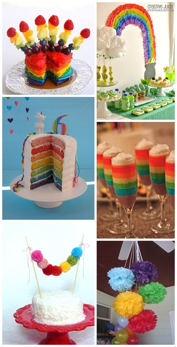 Adorable Rainbow Ideas and Recipes for St. Patrick's Day or any fun party!
