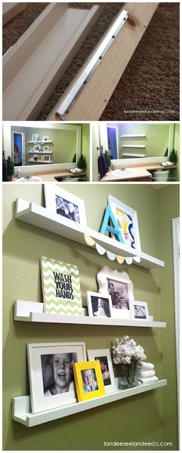 DIY Project Step by Step Tutorial - How to Hang Decorative Floating Shelves SECURELY the EASY way!