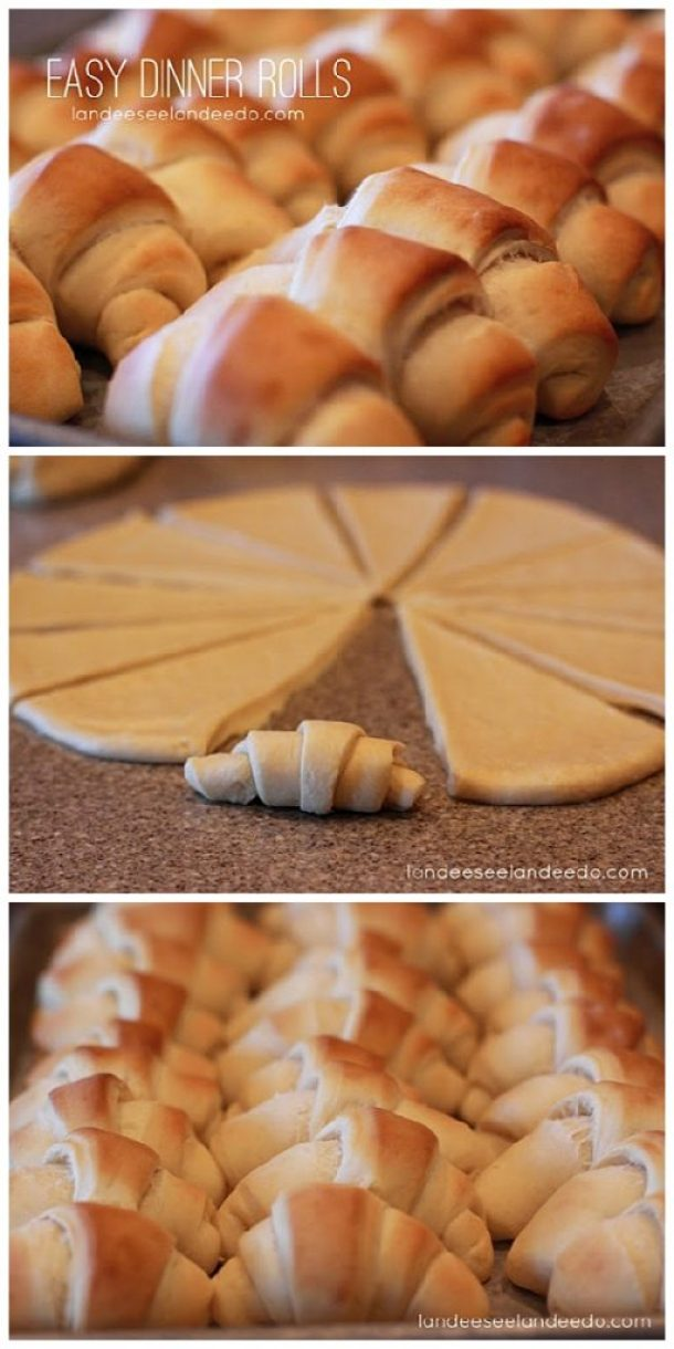 Easy Dinner Rolls Recipe and Tutorial - Impress everyone you know with your mad roll baking skills since from now on you will volunteer to bring rolls to every dinner/potluck/special occasion! The Perfect Easy Dinner Rolls Recipe | Landeelu