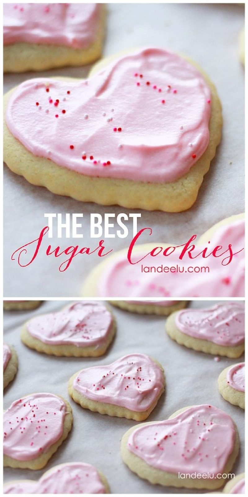 The Best Sugar Cookies Recipe for Valentine's Day or any time of year. SO yummy!