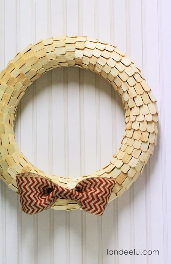 Simple Wood Wreath unpainted