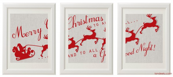 Christmas Art 8x10 frames sample