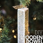 Wood Dowel DIY Christmas Tree Ornaments