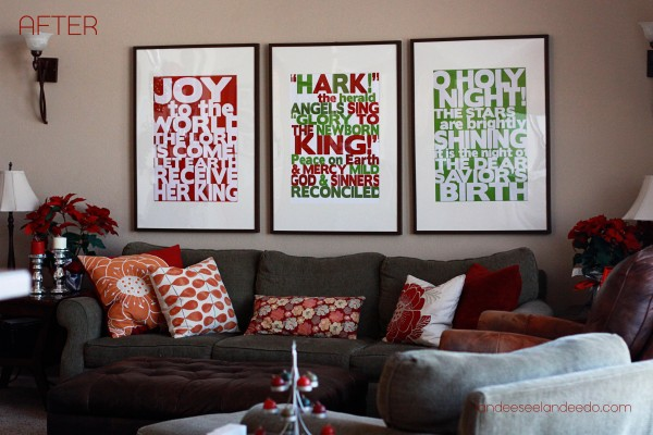christmas subway ikea frames after