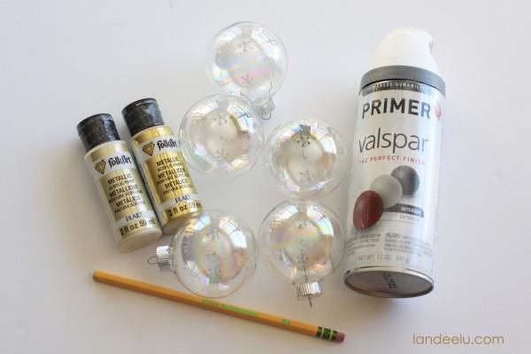 confetti ornaments supplies needed