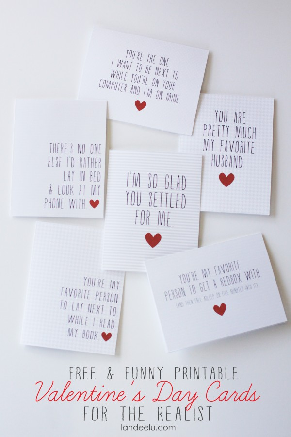 picture relating to Printable Valentine Cards for Husband known as Printable Amusing Valentines Working day Playing cards -