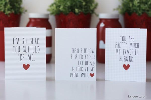 Printable Funny Valentines Day Cards landeelu – Funny Printable Valentine Cards