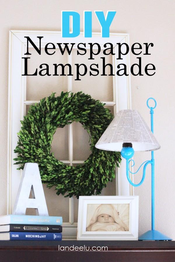 DIY Newspaper Lampshade