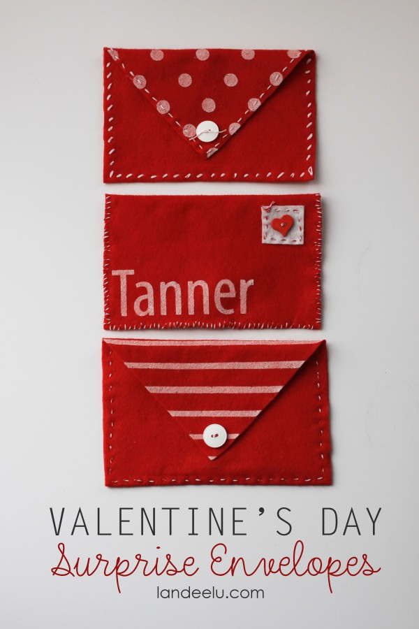 Valentine's Day Surprise Envelopes--easy and cute idea!