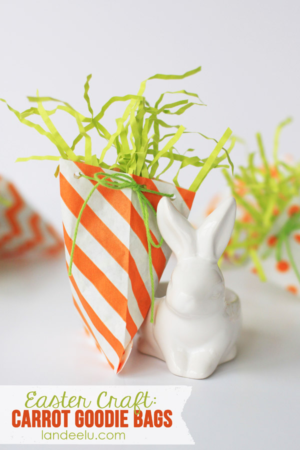 Carrot Goodie Bags--easy Easter craft