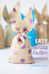 Easter Craft Idea: Burlap Easter Bunnies