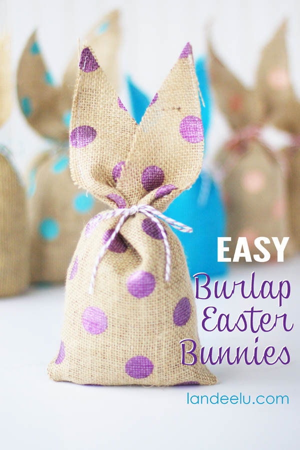 Easter Craft Idea: Burlap Easter Bunnies