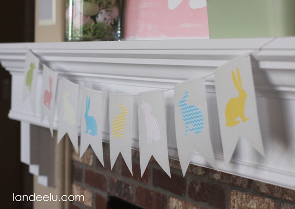 Easter Bunny Banner Printable from Landeelu