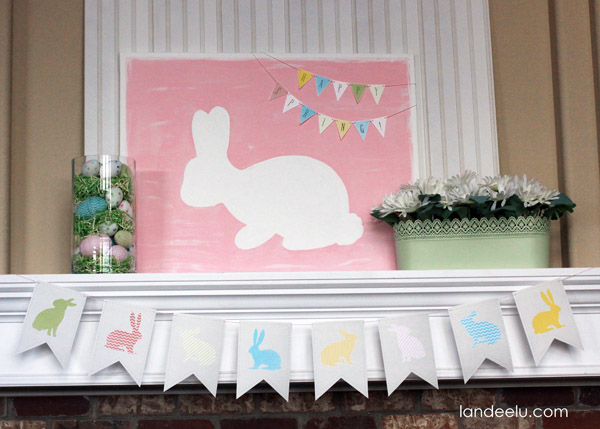 Easter Mantel Decorating Ideas from Landeelu.com