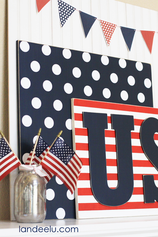 4th of July Mantel idea