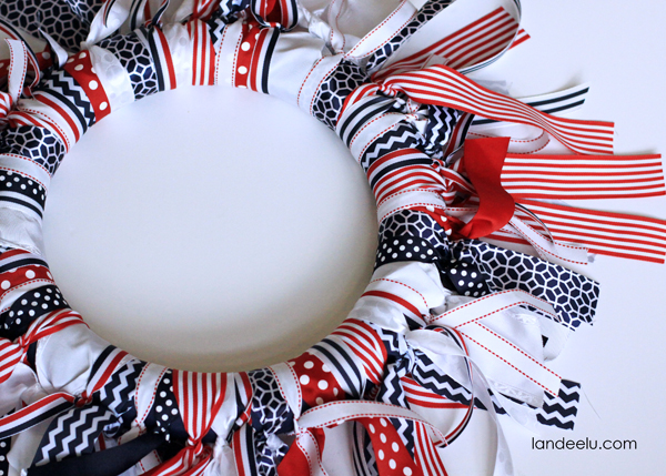 Patriotic Ribbon Wreath--easy to make