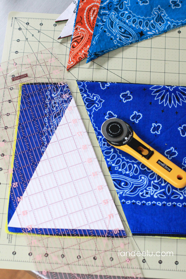 How to cut banner triangles quickly and easily!