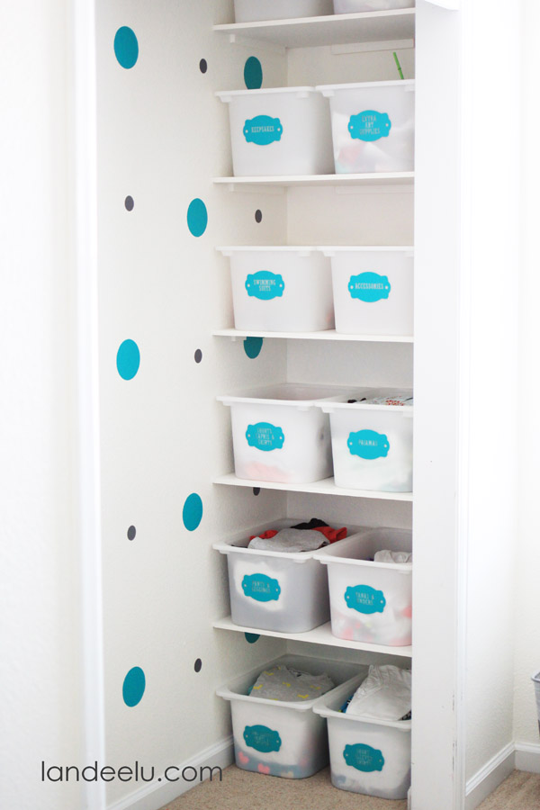 Closet Organization Tips for keeping your kids organized!