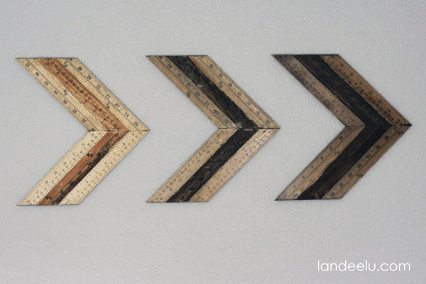 DIY Ombre Ruler Wall Arrows from landeelu.com