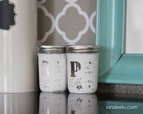 DIY Mason Jar Salt and Pepper Shakers {landeelu.com}