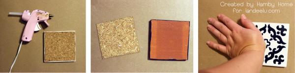 Tile Cork Gluing