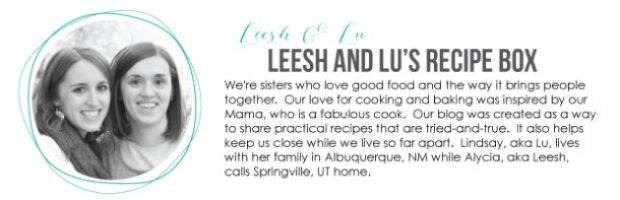 Check out this amazing food blog! Leesh And Lu's Recipe Box