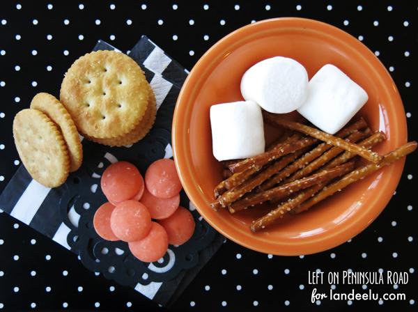 Pumpkin-Shaped-Smores-Ingredients