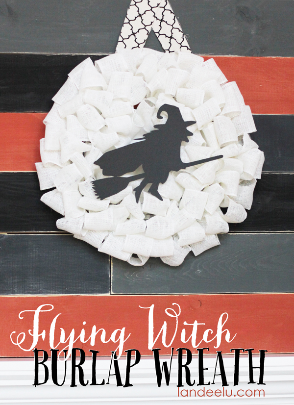 A cute flying witch wreath for Halloween!