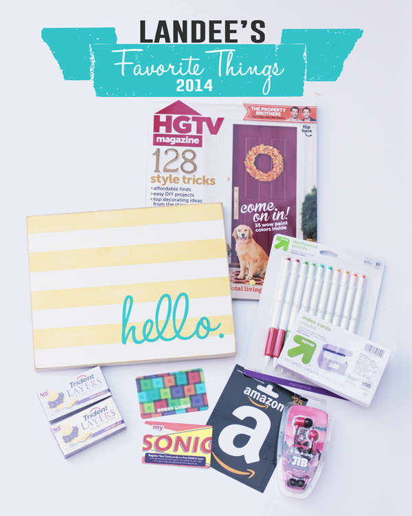 Landee Favorite Things 2014!