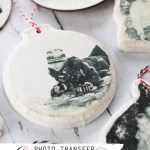 Photo Transfer Christmas Ornaments