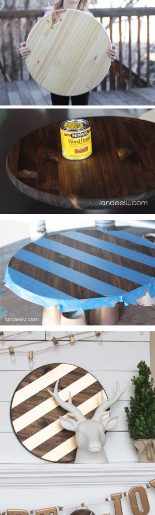 An easy and inexpensive way to add some gold to your decor!   landeelu.com
