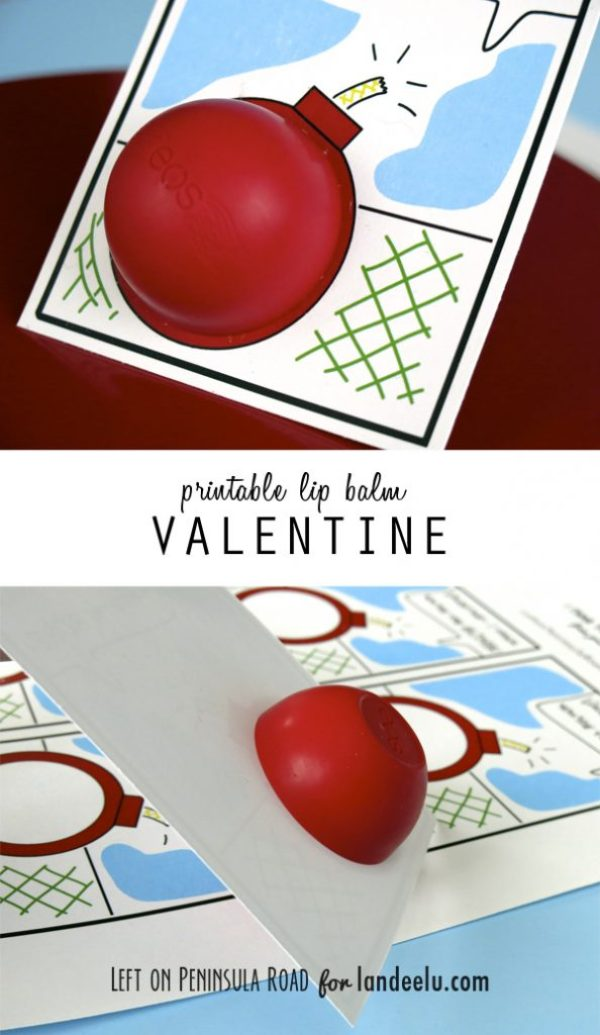 Pintable lip balm Valentine collage