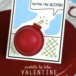 printable lip balm Valentine