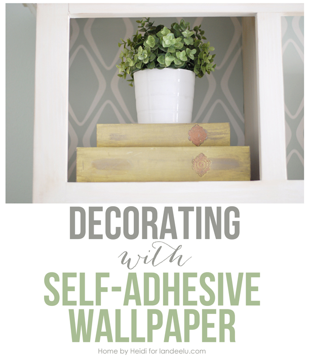 decorating with self adhesive wallpaper