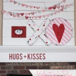 Valentine's Day Mantel: Hugs and Kisses