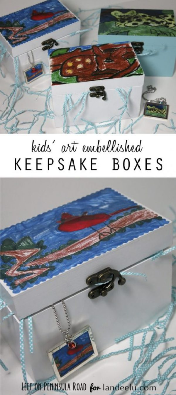 Kids Art Embellished Boxes make great Mother's Day gifts.