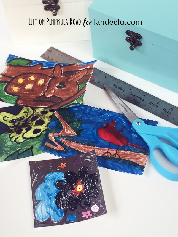Kids' Art Embellished Keepsake Boxes Supplies
