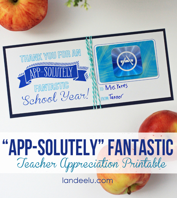 Teacher-Appreciation-App-Store-Gift-Card-Idea Landee See Landee Do