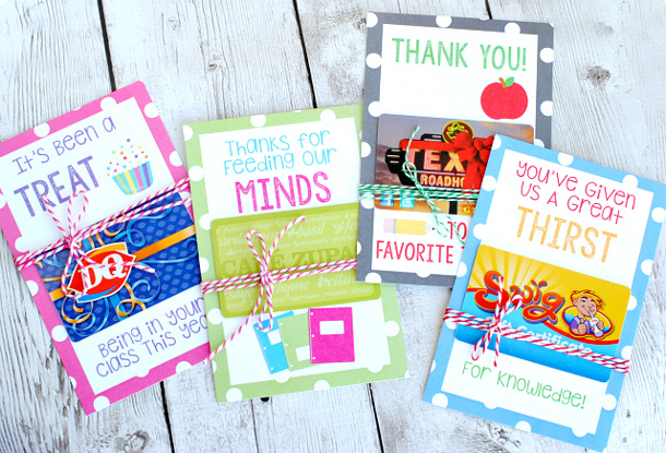 Teacher Appreciation Clever Ways To Give Gift Cards
