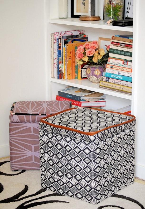 PAPER and STITCH custom storage ottoman DIY tutorial